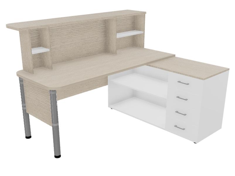 Biroja galds ar leti OB-003