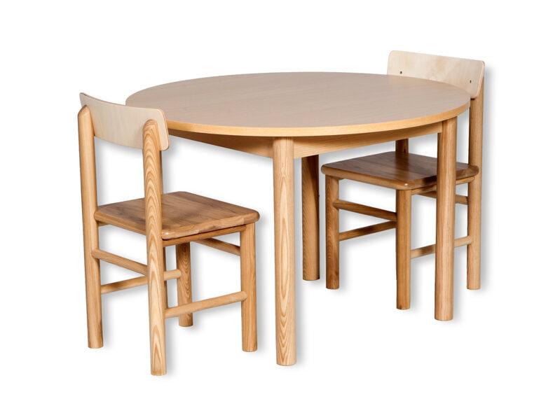 Bērnu galds apaļš MD neregulējams