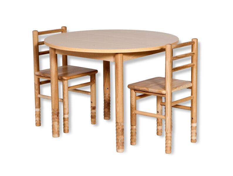 Bērnu galds apaļš MD regulējams