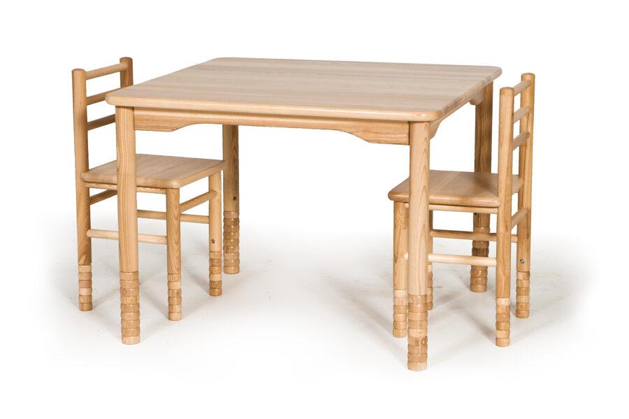 Bērnu galds kvadrātveida MD regulējams